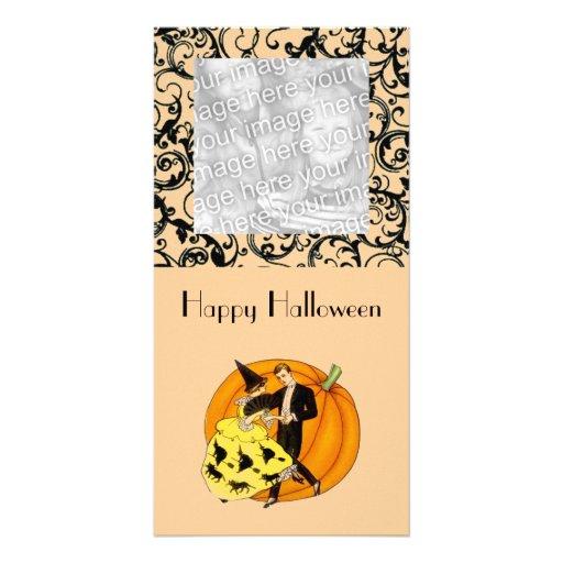 Dancing Halloween Couple Photo Card
