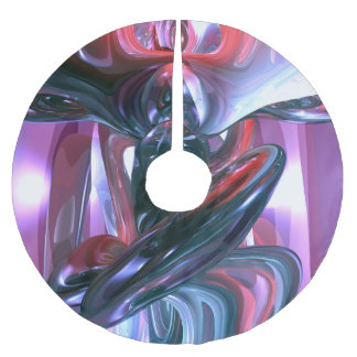 Dancing Hallucination Abstract Brushed Polyester Tree Skirt