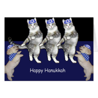 Dancing Hanukkah Kitties Card