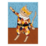 Dancing Harlequin Kitty Party Invitation