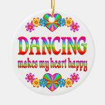 Dancing Heart Happy Christmas Tree Ornament