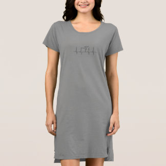 Dancing Heartbeat T-Shirt Dress