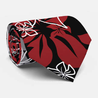 Dancing Hibiscus Hawaiian Two-sided Printed Tie
