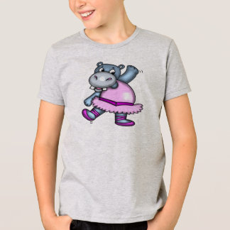 Dancing Hippo Ballerina T-Shirt