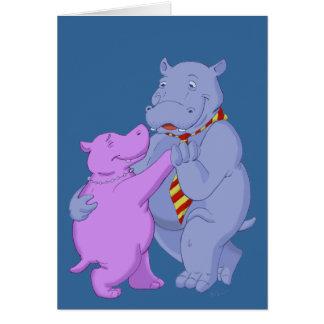 Dancing Hippo Tango Card