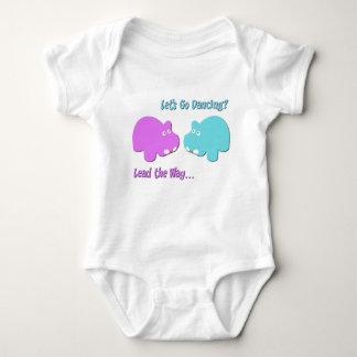 Dancing Hippos Baby Bodysuit