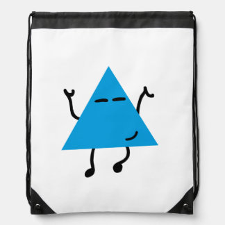 Dancing Hipster Triangle Drawstring Bag