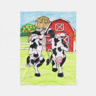 Dancing Holstein blanket