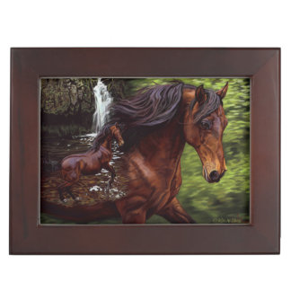 Dancing Horse in Waterfall Keepsake Box