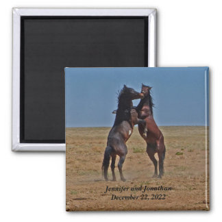 Dancing Horses Anniversary Party Favor Magnet