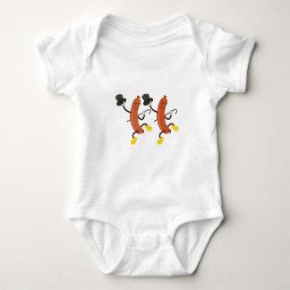 Dancing Hot Dogs Baby Bodysuit