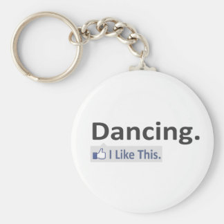 Dancing...I Like This Basic Round Button Key Ring