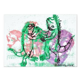 Dancing Iguanas Note Card 13 Cm X 18 Cm Invitation Card