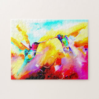 """Dancing in Color"" Hummingbird Print Jigsaw Puzzle"