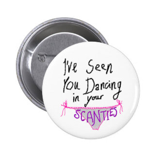 Dancing in Scanties cute & funny handwritten logo 6 Cm Round Badge