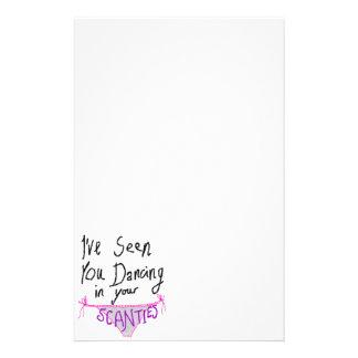 Dancing in Scanties cute & funny handwritten logo Stationery