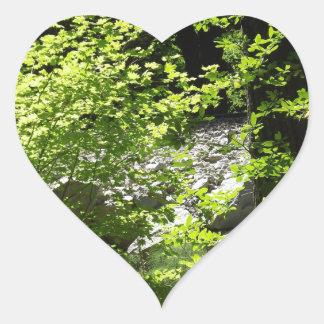 Dancing in Sunlight Heart Sticker