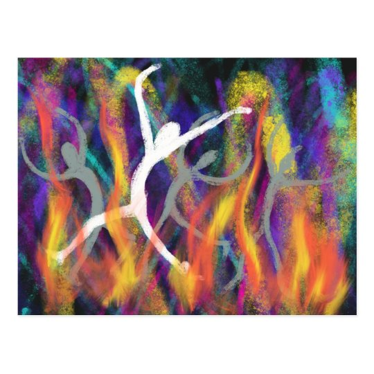 Dancing in the Furnace Christian Modern Art Design