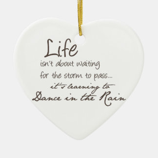 Dancing In The Rain Christmas Ornament