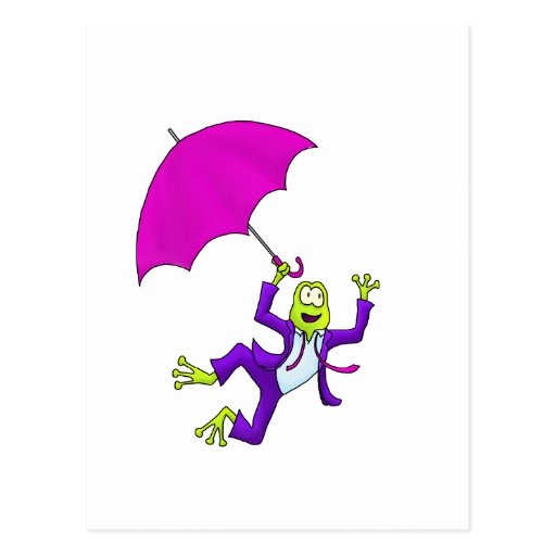 Dancing in the Rain Frog Post Cards
