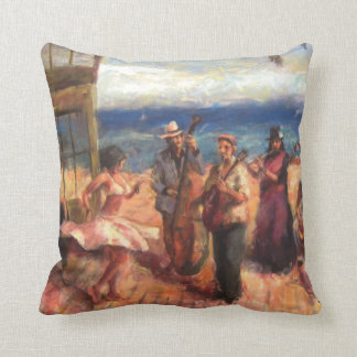 Dancing in the streets cushion