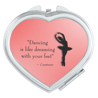 Dancing is Like Dreaming Ballet Makeup Mirror