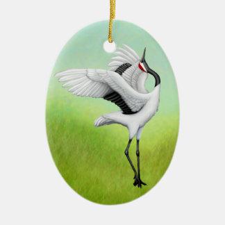 Dancing Japanese Cranes Holiday Ornament