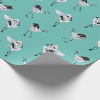 Dancing Japanese Cranes Wrapping Paper