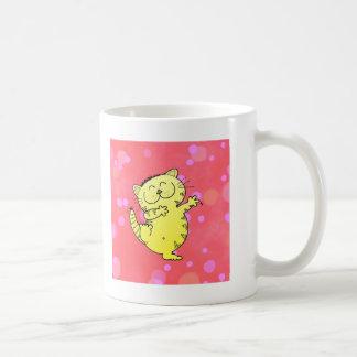 Dancing Kitten Basic White Mug