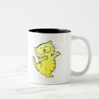 Dancing Kitten Two-Tone Mug