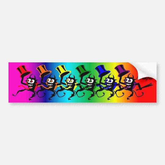 Dancing Krampus Bumper Sticker