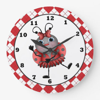 Dancing Ladybug fun wall clock