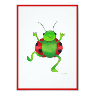 "Dancing ""ladybug""  invitation"