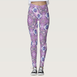 Dancing Leaves Lavender Geometric Leggings