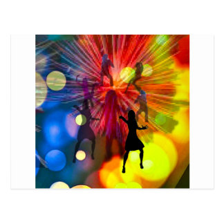 dancing light postcard