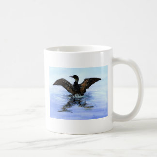 Dancing Loon by Jane Freeman, ART FOR LOON RESCUE Basic White Mug