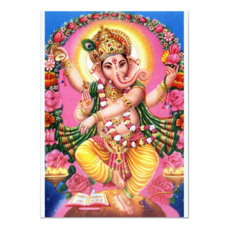 Dancing Lord Ganesha Card