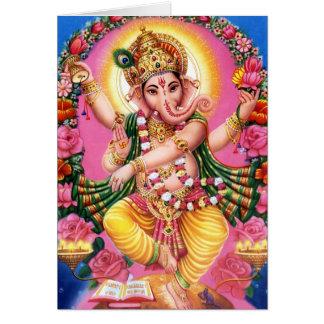 Dancing Lord Ganesha Greeting Card