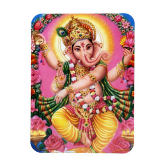 Dancing Lord Ganesha Rectangular Photo Magnet