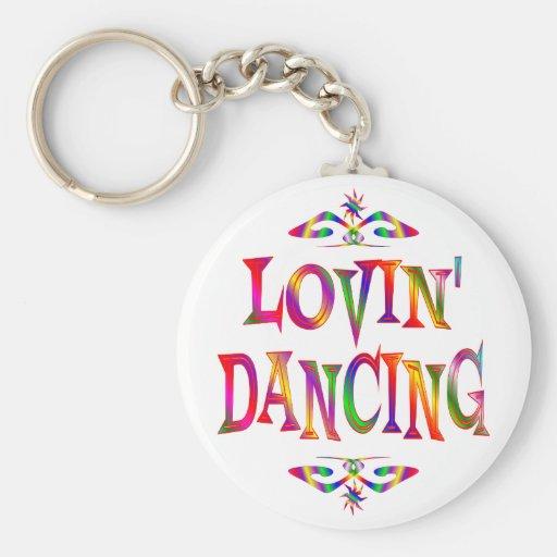 Dancing Lover Basic Round Button Key Ring