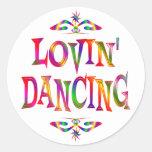 Dancing Lover Round Sticker