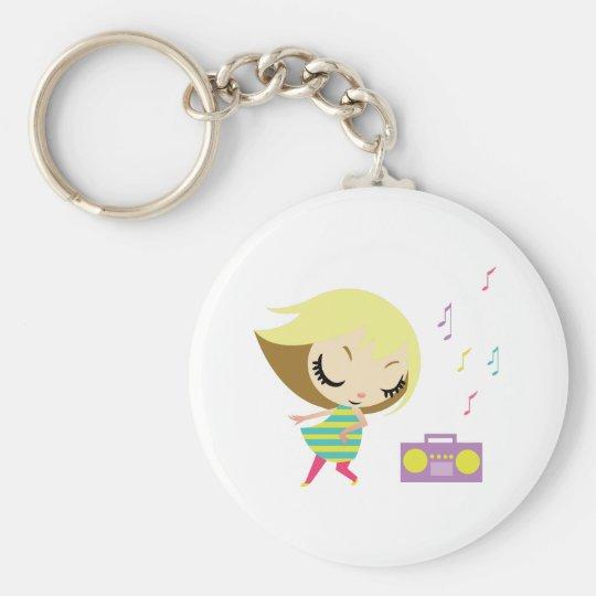 Dancing Maddie Basic Round Button Key Ring