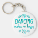 Dancing Makes Me Happy Basic Round Button Key Ring