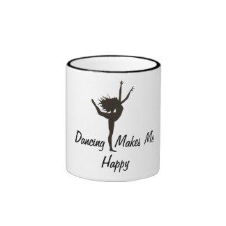 Dancing  Makes MeHappy Ringer Mug