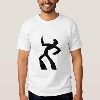 Dancing Man Silhouette art T Shirt