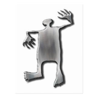 Dancing Man stainless steel Postcards