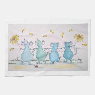 Dancing Mice Tea Towel