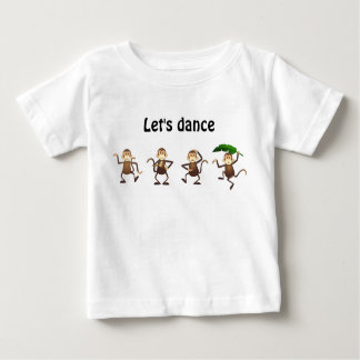 Dancing monkey, Let's dance Baby T-Shirt