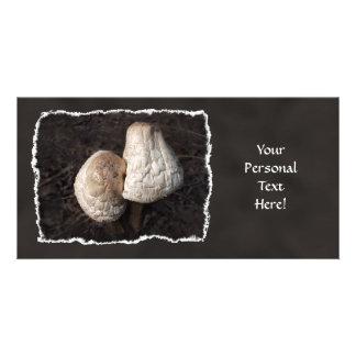 Dancing Mushrooms Duo Customized Photo Card