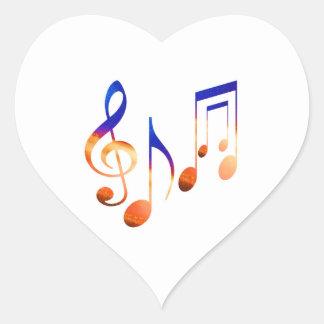 Dancing Music Signs Heart Sticker